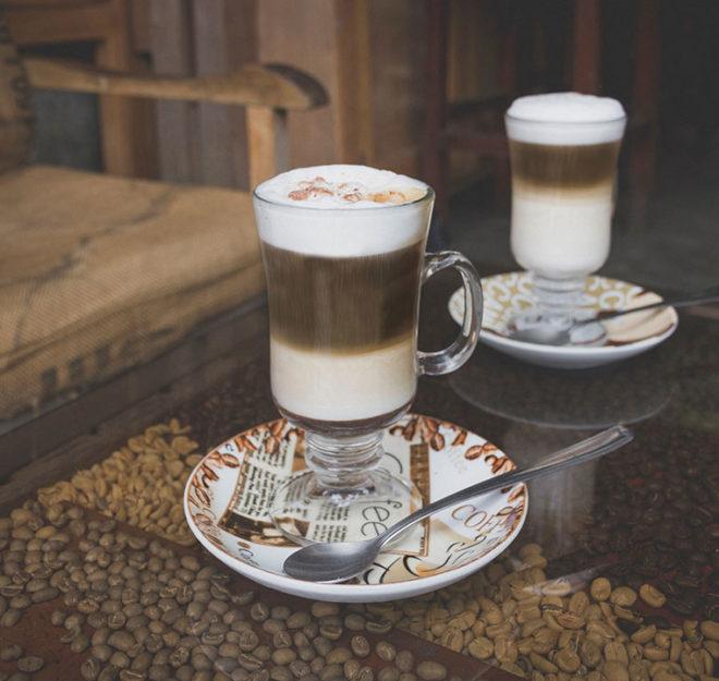 Recette Monin : café latte chocolat cookie