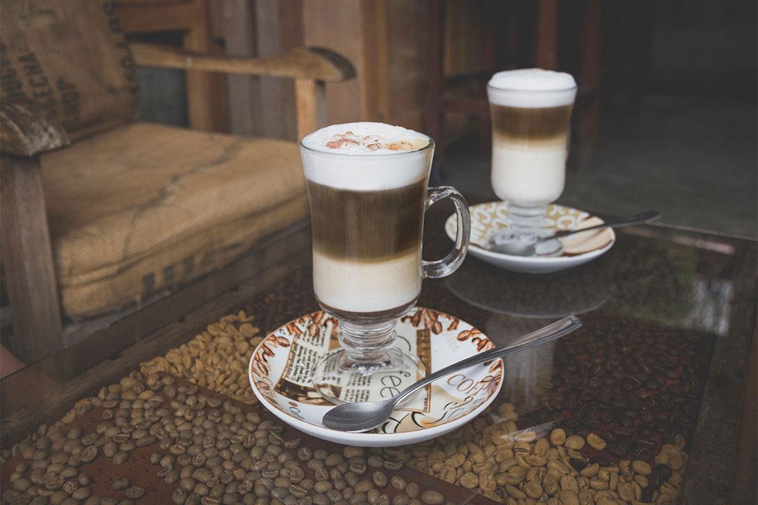 Recette Monin : café latte chocolat cookie