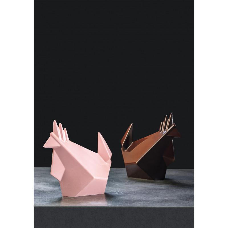 Animaux origamis en chocolat