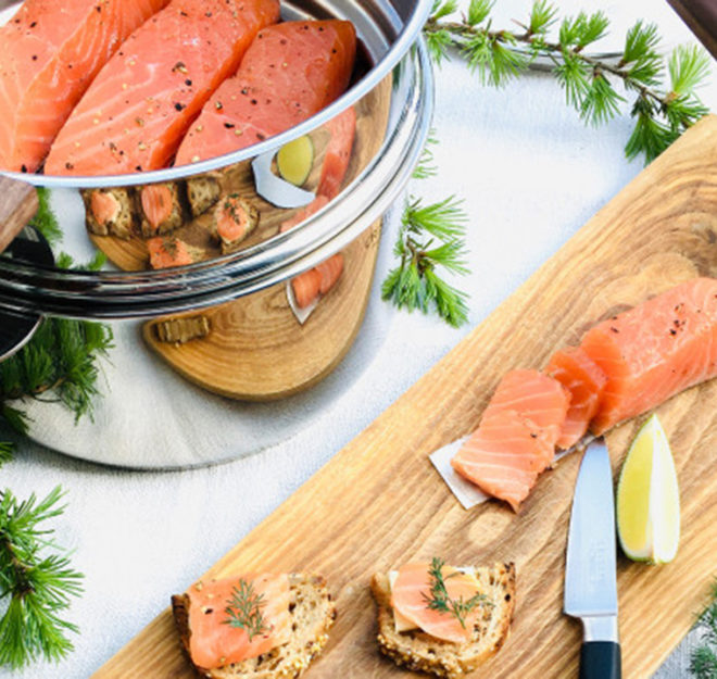 Recette salée saumon fumé
