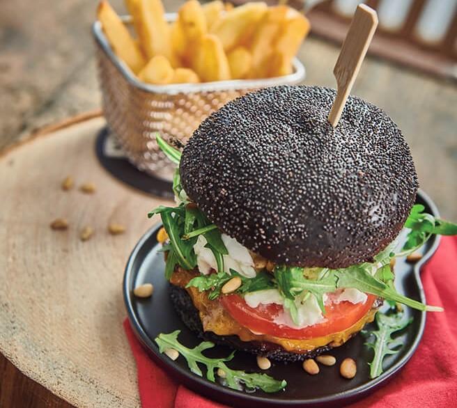 Black Burger à la plancha