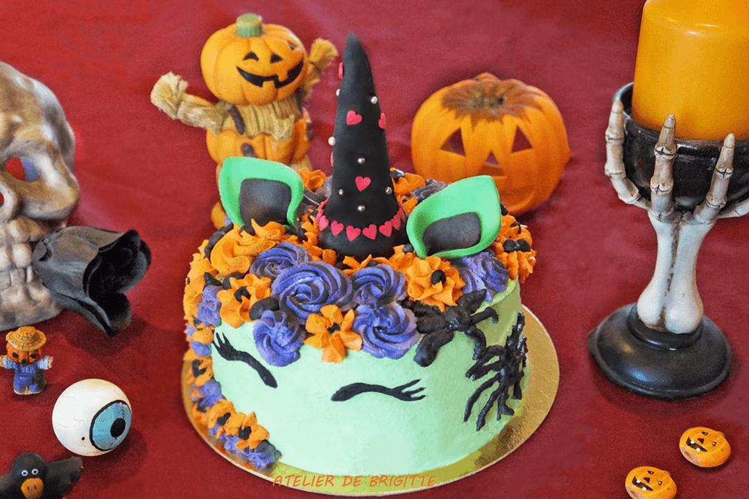 Gâteau Licorne d'Halloween